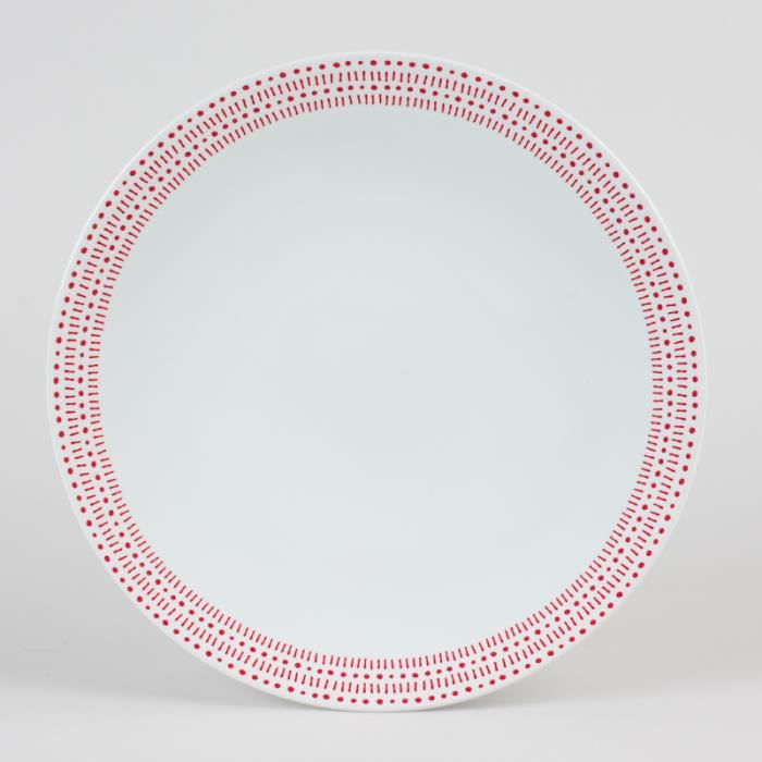 Table passion assiette plate 27cm rice rouge - Vaisselle table passion ...