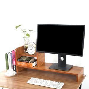 FIXATION ÉCRAN  Support pour écran d'ordinateur de bureau en bois(