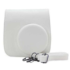 PACK APPAREIL RÉFLEX Mignon blanc PU cuir caméra sac pour FUJIFILM Inst