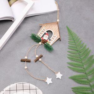 SAPIN - ARBRE DE NOËL Maison en forme de sapin de Noël pendentif accroch