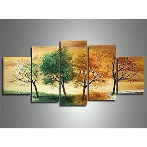 TABLEAU - TOILE peints à la main paysage moderne saison 4 photos d