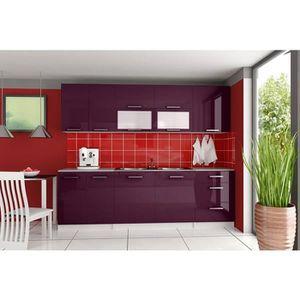 CUISINE COMPLÈTE Cuisine complète TARA 2m60 aubergine violet