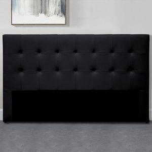 TÊTE DE LIT Tête De Lit Capitonnée Capitole - Noir - 140 cm