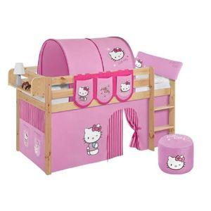 LIT COMBINE  Lit surélevé ludique JELLE Hello Kitty rose - avec