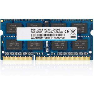 MÉMOIRE RAM 8 Go DDR3L - DDR3 1333MHz SODIMM PC3L - PC3-10600,