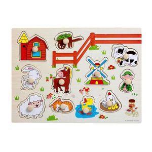 PUZZLE Puzzles de bois éducatifs pour bébés et enfants Pu