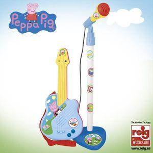 INSTRUMENT DE MUSIQUE PEPPA PIG Micro et Guitare