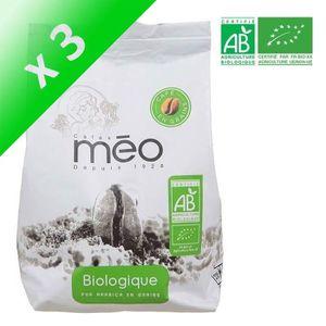 CAFÉ MEO Café grain Bio - 500 g (Lot de 3)