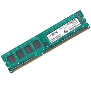 MÉMOIRE RAM 4Go RAM PC Crucial CT51264BA160BJ.M8FED DDR3 PC3-1