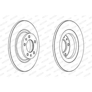 2x NEUF de la marque Ferodo frein avant Disc-DDF1603C-garantie de 12 mois!