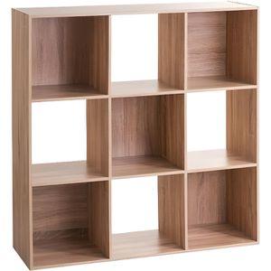 MEUBLE ÉTAGÈRE Five - Étagère en bois 9 cases mix'n modul bois Bo