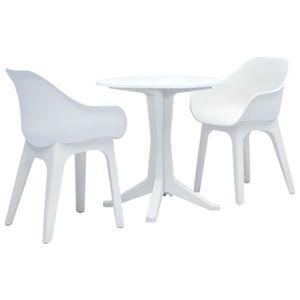 Ensemble table et chaise de jardin Festnight Ensemble de Bistro de Jardin 1 table et