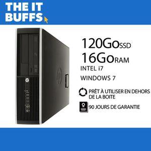 ORDI BUREAU RECONDITIONNÉ HP Elite 8300 I7 16Go RAM 120Go SSD Windows 7 Ordi
