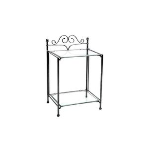 CHEVET Miliboo - Table de nuit baroque noire métal VIC…