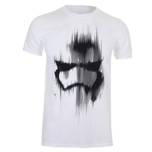 T-SHIRT tee-shirt star wars mens trooper mask white