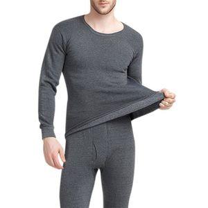 BODY Homme Sous-vêtement Thermique Manche Longue 2 pièc