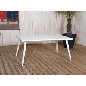 TABLE À MANGER SEULE Table rectangulaire - Couleur - Blanc