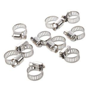 SODIAL R 10 x Clip a Ressort Colliers de Serrage pour Tuyau de Carburant Conduite deau Tube de lair Diametre 12mm