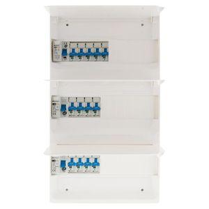 VMC - ACCESSOIRES VMC Coffret T5 39 modules Blanc équpé de 13 disjoncteu