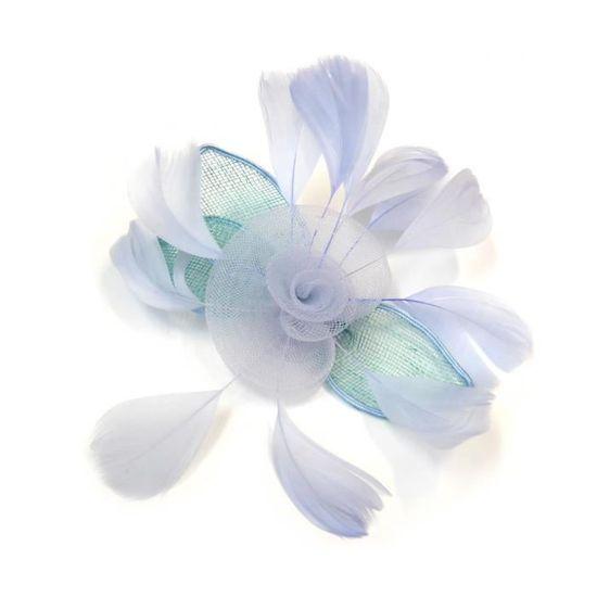 Barrette cheveux mariage bleu