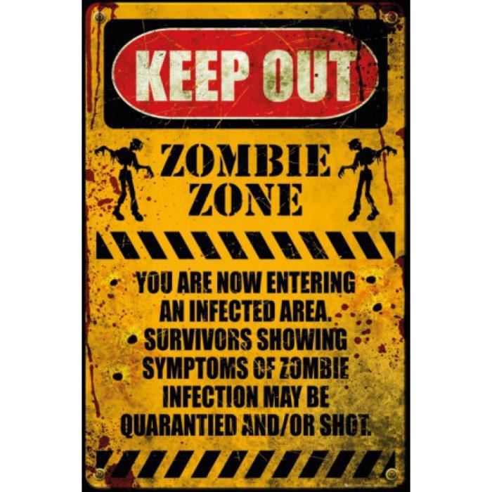 poster zombie achat vente poster zombie pas cher cdiscount. Black Bedroom Furniture Sets. Home Design Ideas
