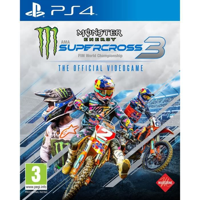 Monster Energy Supercross 3 Jeu PS4