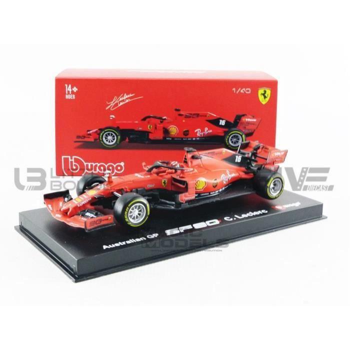 Voiture Miniature de Collection - BBURAGO 1/43 - FERRARI F1 SF90 - 2019 Signature Serie - Red / White - 36814L