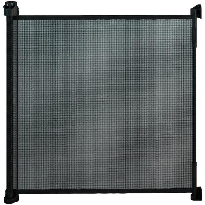 Gaterol Active Lite Noir – Barrière de sécurité store extensible pour escalier et porte jusqu'à 140 cm de couverture