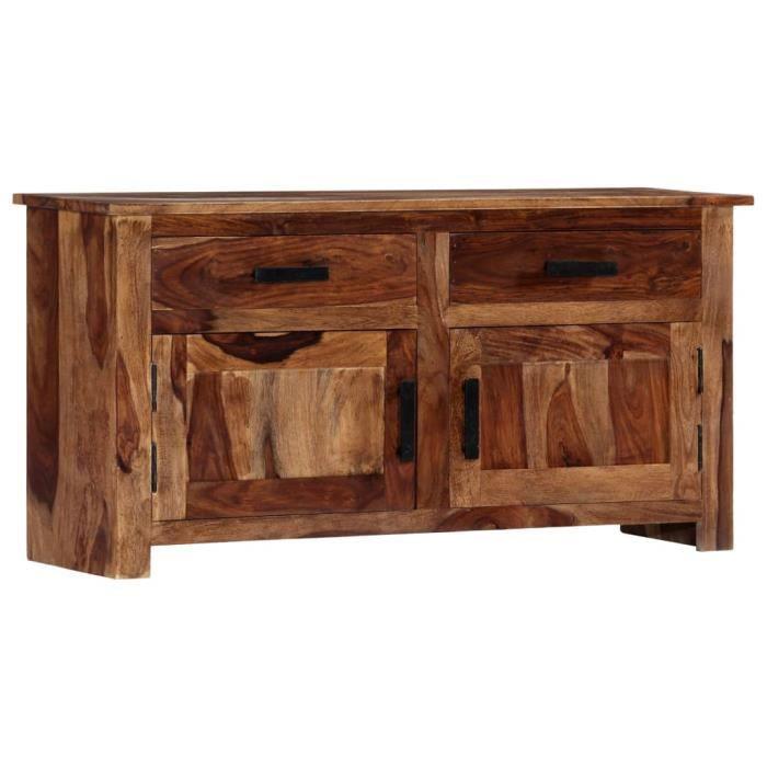 Haute qualité Buffet bas scandinave commode Buffet de cuisine - meuble de rangement -100 x 30 x 50 cm Bois massif de Sesham♕1572