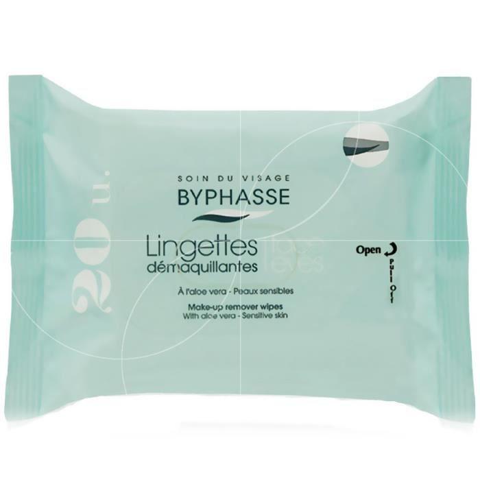 Byphasse - Lingettes démaquillantes Visage-Yeux - Peaux sensibles x20