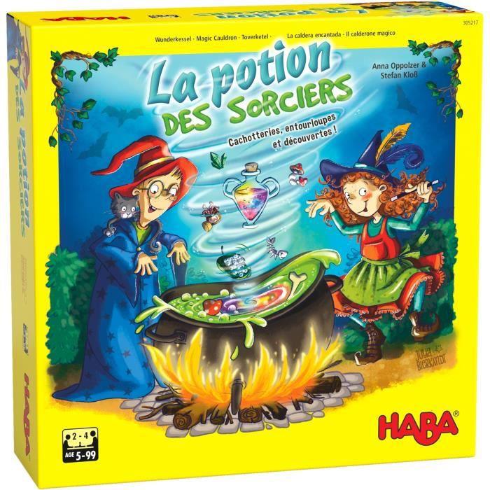 HABA - La potion des sorciers - Jeu de course et de mémoire - 5 ans et plus, 305217
