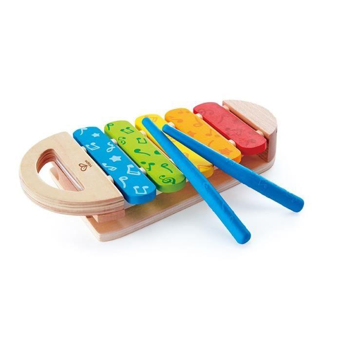 HAPE Jouet d'éveil musical en bois - Xylophone arc-en-ciel