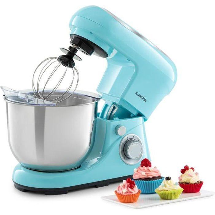 Klarstein Bella Pico 2G Robot de cuisine multifonction - Bol 5 litres - 6 vitesses - 1200W - Bleu