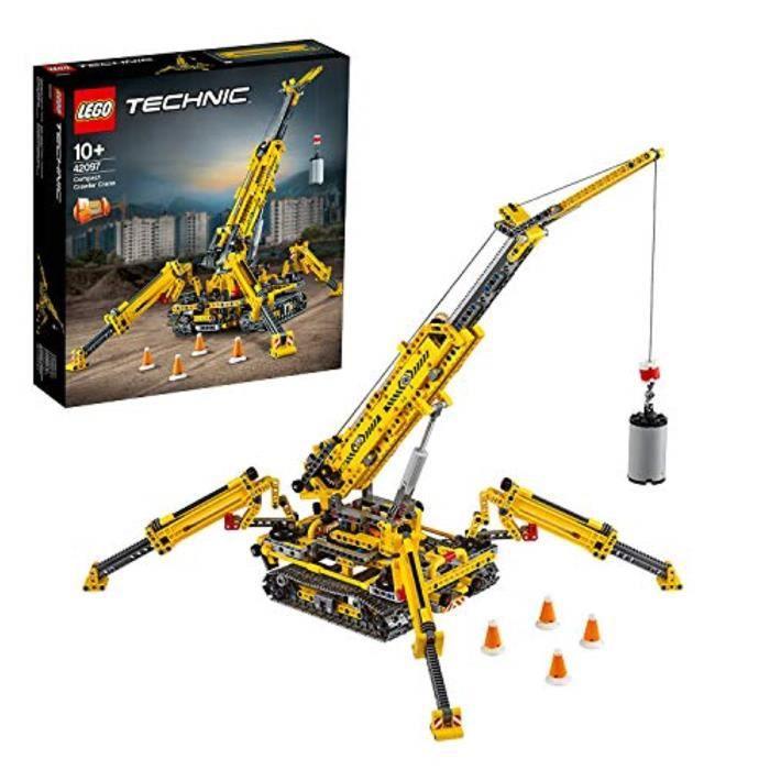 Jeu D'Assemblage LEGO U6HUM 42097 Technic Compact Crawler Crane and Tower Crane, 2 in 1 Spiderlike Model, Construction Set