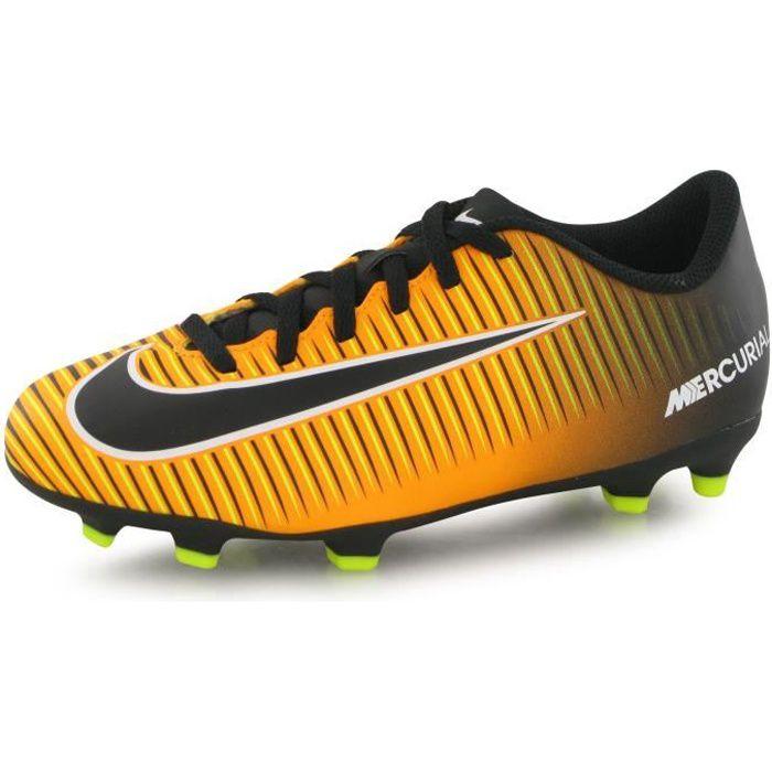 Nike Mercurial Vortex Iii Fg orange, chaussures de football enfant