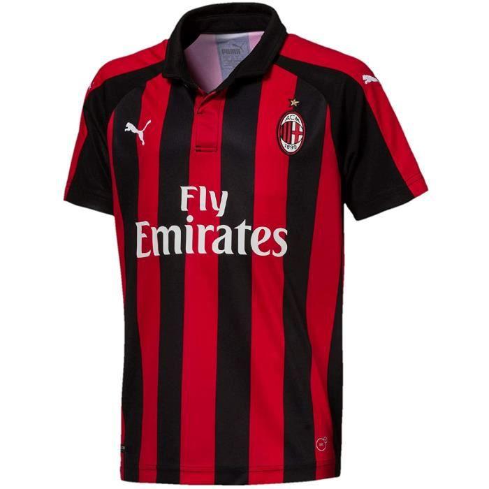 Maillot Milan Ac Domicile Enfant Football Puma Roue et Noir