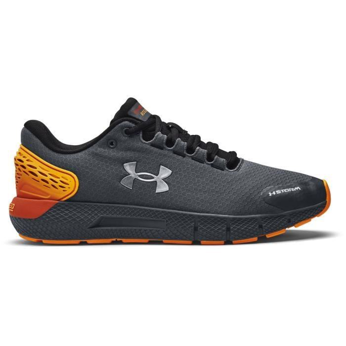 Chaussures de running de running Under Armour Charged Rogue 2 ColdGear Infrared - gris foncé/argenté/orange - 47,5