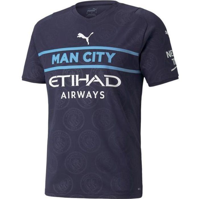 Maillot third Manchester City 2021/22 - bleu marine/blanc - XS