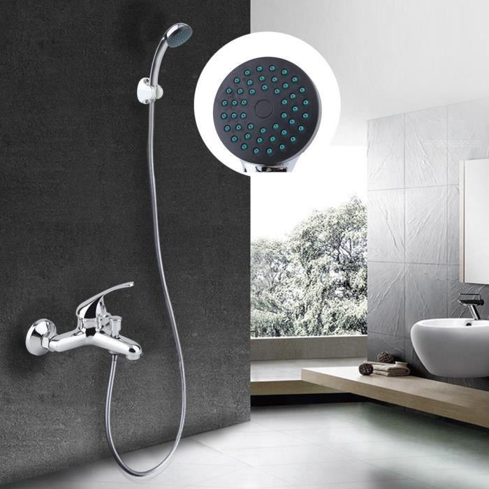 Kit de Douchette + Robinet de salle de bain - Accessoires de Douche salle de bain pratique