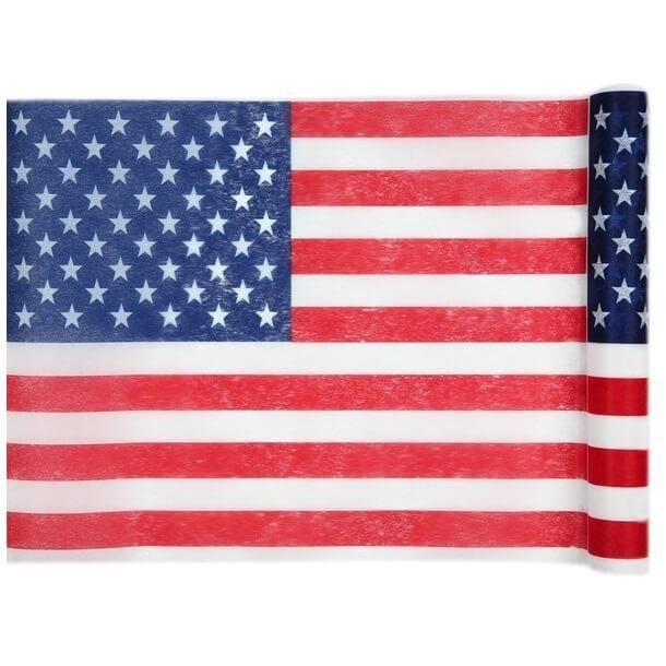 Décoration de table Amérique USA avec chemin de table (x1) R/4846