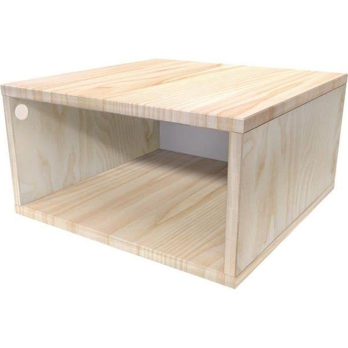 Cube De Rangement Bois Largeur 50 Cm Couleur Brut Dimensions 50x50 Achat Vente Petit Meuble Rangement Cube De Rangement Bois Larg Cdiscount