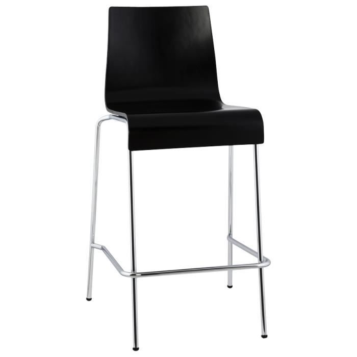tabouret snack mi hauteur 39 kwatro mini 39 en boi achat. Black Bedroom Furniture Sets. Home Design Ideas