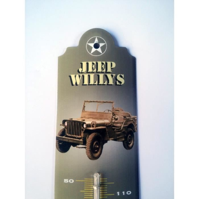 thermometre jeep willys achat vente thermom tre barom tre thermometre jeep willys. Black Bedroom Furniture Sets. Home Design Ideas