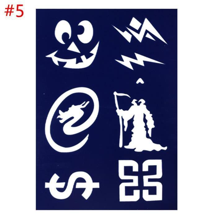 Motif 5 Pochoir Créatif Modèle Réutilisable En Plastique Pour Peinture Dessin Halloween Planche De Gabarits