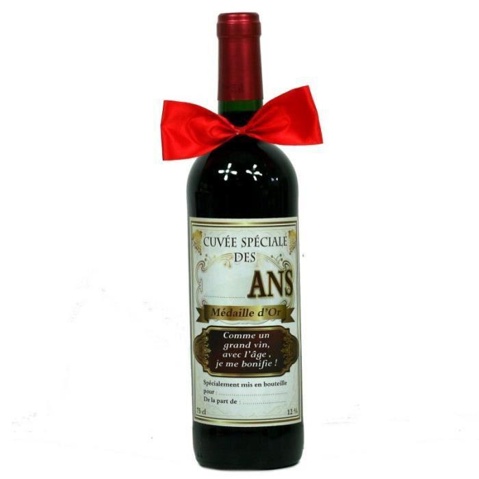 Bouteille De Vin Cuvée Spéciale Anniversaire