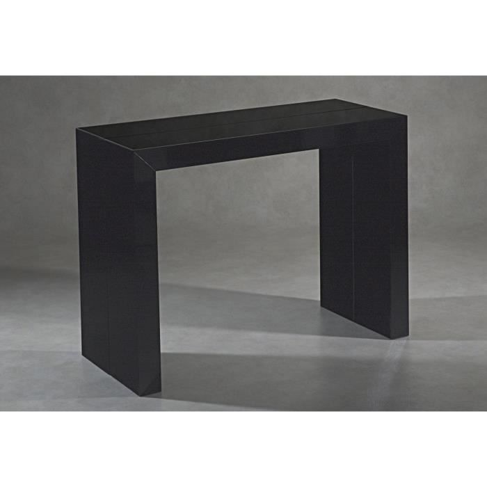 table console noire. Black Bedroom Furniture Sets. Home Design Ideas