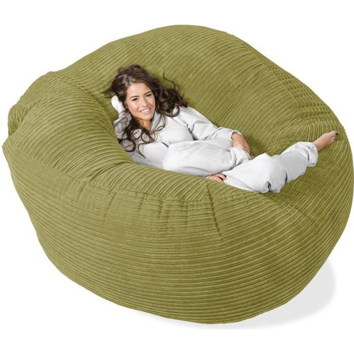 pouf g ant grande mammouth vert acide achat vente pouf poire cdiscount. Black Bedroom Furniture Sets. Home Design Ideas
