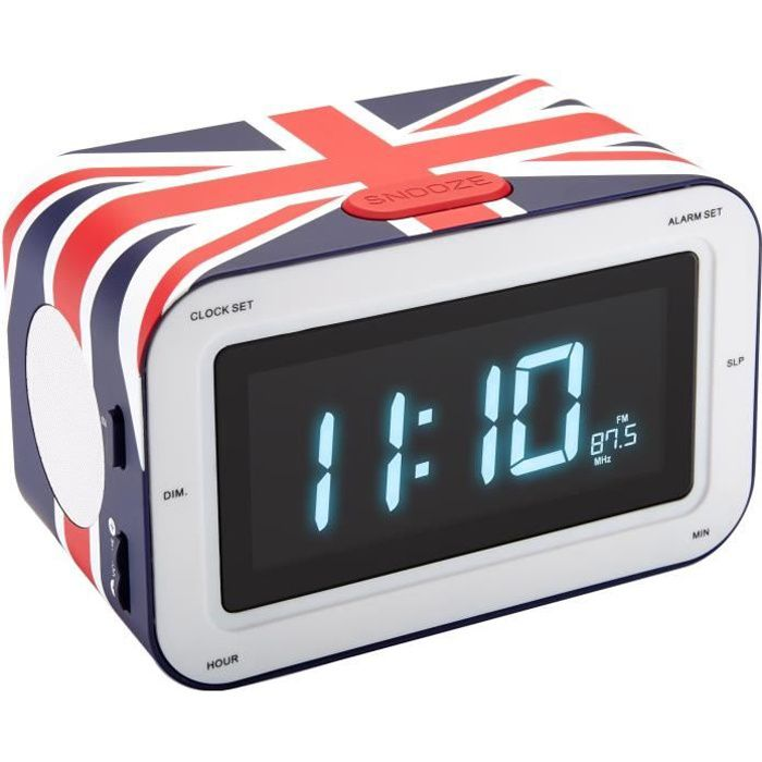 radio reveil bleu union jack radio r veil avis et prix. Black Bedroom Furniture Sets. Home Design Ideas