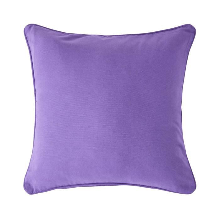 coussin d houssable violet 45 x 45 cm achat vente. Black Bedroom Furniture Sets. Home Design Ideas