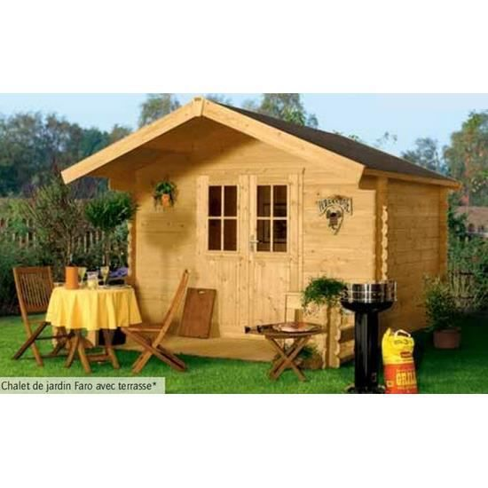 chalet de jardin bois 300 x 250 cm m faro achat vente abri jardin chalet chalet de. Black Bedroom Furniture Sets. Home Design Ideas